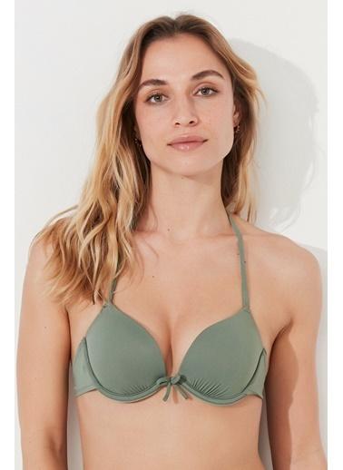 Penti Siyah Basic Push Up Bikini Üstü Yeşil